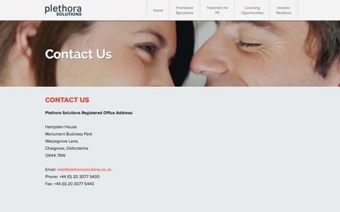 Screenshot of Contact Page plethorasolutions.co.uk - Constitutional Documents - captured Sept. 30, 2014