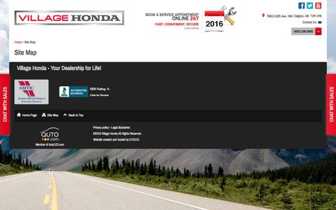 Screenshot of Site Map Page villagehonda.com - Site Map | Village Honda - captured May 5, 2016