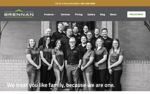 Screenshot of About Page brennancorp.com - About Brennan Enterprises Remodeling Company - captured Oct. 21, 2018