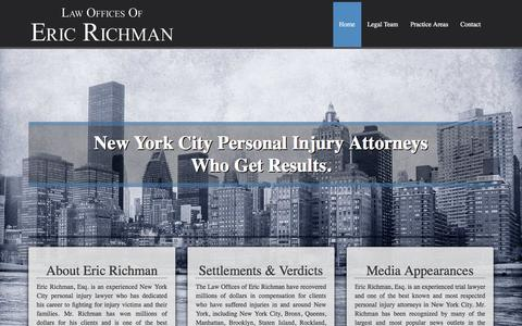 Screenshot of Home Page richman-law.com - New York City Attorney   Personal Injury   Richman Law - captured June 20, 2016