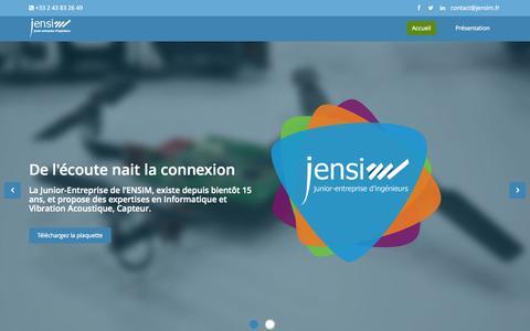 Screenshot of Home Page jensim.fr - Accueil | Jensim - captured Aug. 2, 2015