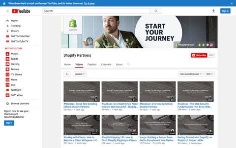 Shopify Partners  - YouTube
