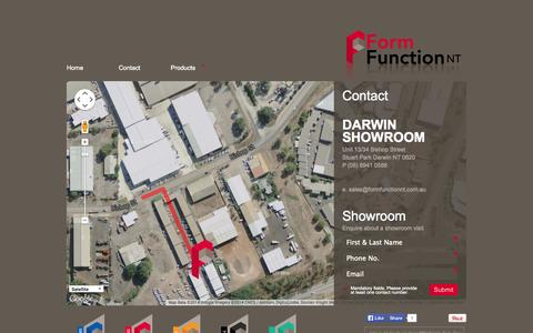 Screenshot of Contact Page formfunctionnt.com.au - Contact FormFunctionNT, Contact Wardrobe World Darwin|FormFunction NT - captured Sept. 30, 2014