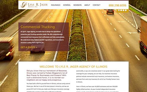 Screenshot of Home Page jageragency.com - Lyle R. Jager Agency | Illinois Insurance - captured Oct. 3, 2014