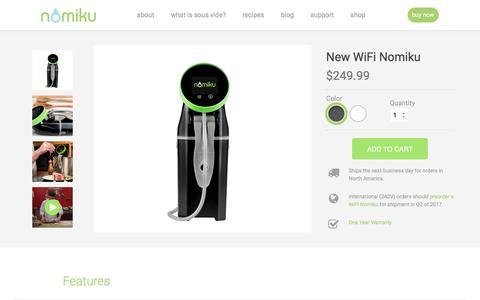 Screenshot of nomiku.com - WiFi Nomiku | Nomiku - captured March 29, 2017