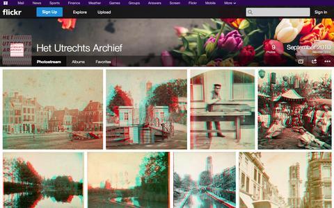 Screenshot of Flickr Page flickr.com - Flickr: Het Utrechts Archief's Photostream - captured Oct. 22, 2014