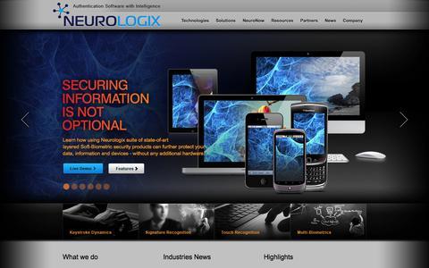 Screenshot of Home Page nlgxsecure.com - Neurologix - captured Oct. 7, 2014
