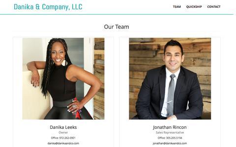 Screenshot of Team Page danikaandco.com - Danika & Company: Team - captured Nov. 23, 2016