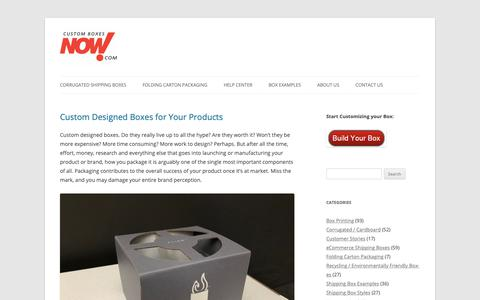Screenshot of Blog customboxesnow.com - Custom Boxes Now! Blog - Research, News, and Ideas in the World of Shipping Boxes - captured June 18, 2019