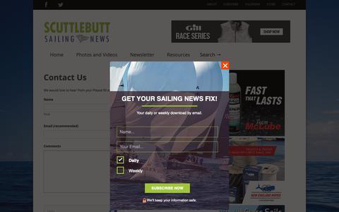 Screenshot of Contact Page sailingscuttlebutt.com - Contact Us >> Scuttlebutt Sailing News - captured Oct. 9, 2018