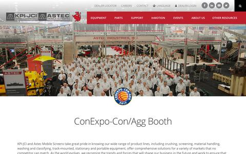 Screenshot of Signup Page kpijci.com - ConExpo-Con/Agg Booth | KPI-JCI and Astec Mobile Screens - captured Feb. 4, 2018
