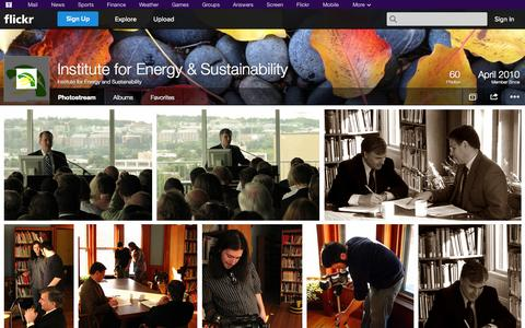 Screenshot of Flickr Page flickr.com - Flickr: Institute for Energy and Sustainability's Photostream - captured Oct. 23, 2014