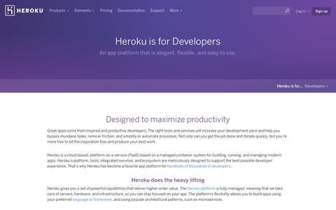 Screenshot of Developers Page heroku.com - Heroku is for Developers   Heroku - captured May 3, 2017