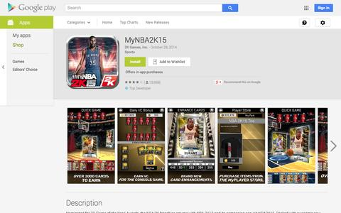 Screenshot of Android App Page google.com - MyNBA2K15 - Android Apps on Google Play - captured Oct. 29, 2014