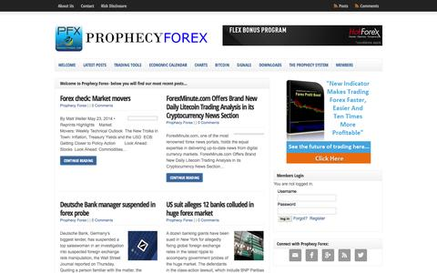 Prophecy Forex