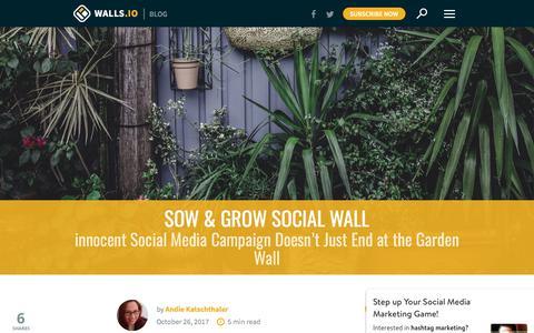 Screenshot of walls.io - innocent Sow & Grow Social Media Campaign   Walls.io Blog - captured Jan. 4, 2018
