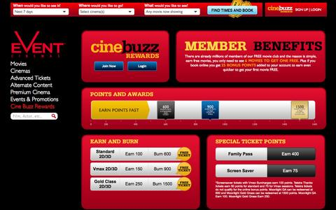 Screenshot of Signup Page Login Page eventcinemas.com.au - Join our member programs - captured Oct. 23, 2014