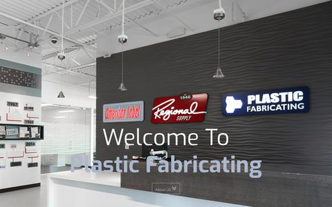 Screenshot of Home Page plasticfabricating.net - Plastic Fabricating | Home - captured July 19, 2018