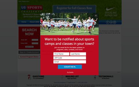 Screenshot of Maps & Directions Page ussportsinstitute.com - Directions - captured Sept. 21, 2018