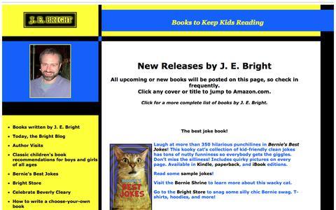 Screenshot of Home Page jebright.com - J. E. Bright - captured July 25, 2018