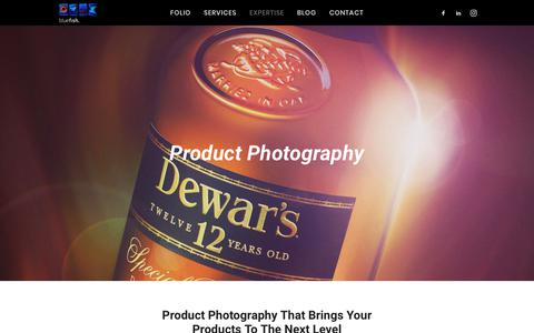 Screenshot of Products Page bluefish.com.au - Product Photography Melbourne - Bluefish Productions - captured Oct. 6, 2018