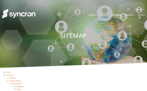 Screenshot of Site Map Page syncron.com - Sitemap - Syncron - captured Nov. 15, 2017