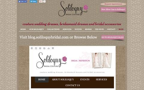 Screenshot of Blog soliloquybridal.com - Soliloquy Bridal Couture Blog - captured Dec. 3, 2016