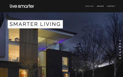 Screenshot of Home Page live-smarter.co.uk - Live Smarter - captured Dec. 10, 2015