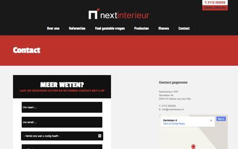 Screenshot of Contact Page nextinterieur.nl - Contact met Nextinterieur - captured Oct. 7, 2014