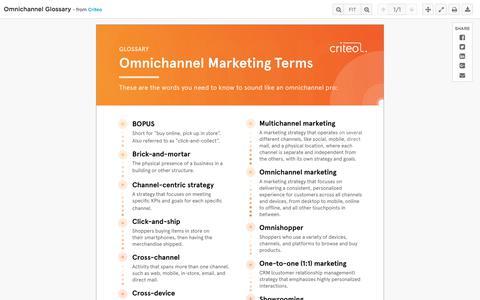 Omnichannel Glossary