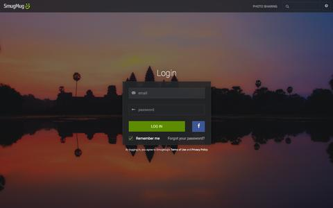 Screenshot of Login Page smugmug.com - Photo Sharing. Your Photos Look Better Here. - captured Jan. 22, 2016