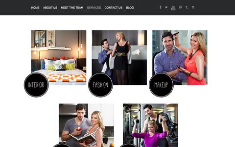 Screenshot of Services Page theguidetostyle.com - The Guide to Style   –  SERVICES - captured Oct. 26, 2014