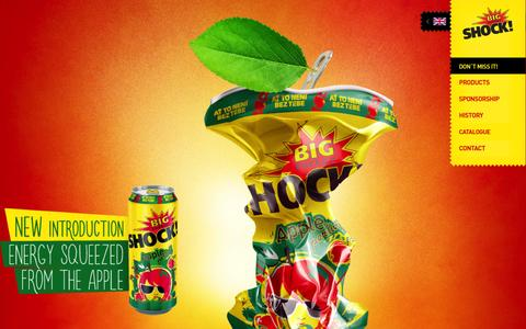 Screenshot of Home Page bigshock.eu - Big Shock! energy drinks! - captured Sept. 10, 2015