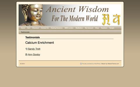 Screenshot of Testimonials Page medicine-buddha.com - Testimonials | - captured April 3, 2018