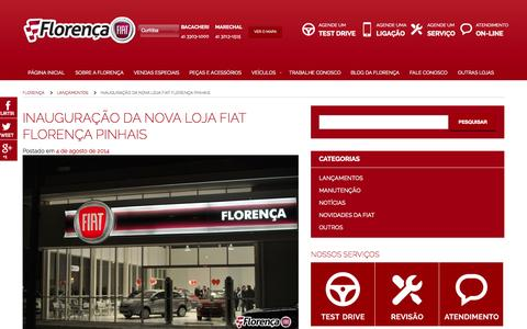Screenshot of Home Page florenca.com.br - Florença | a melhor FIAT da cidade - captured Oct. 6, 2014