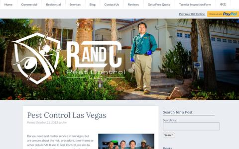Screenshot of Services Page randcpestcontrol.com - Pest Control in Las Vegas - Las Vegas Pest Control - captured Dec. 6, 2016