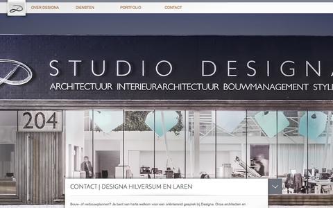 Screenshot of Contact Page designa.nl - Contact | Designa - captured Sept. 30, 2014