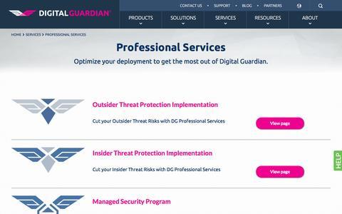 Professional Data & Information Security Consluting Services | Digital Guardian