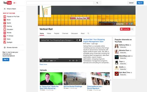 Screenshot of YouTube Page youtube.com - Vertical Rail  - YouTube - captured Oct. 29, 2014
