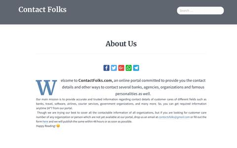 Screenshot of About Page contactfolks.com - About Us - Contact Folks - captured Sept. 24, 2018