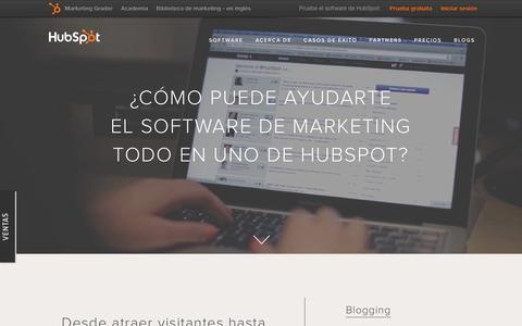 Screenshot of Products Page hubspot.es - Visión general sobre los productos de HubSpot - captured March 2, 2016