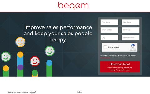 Screenshot of Landing Page beqom.com - beqom - Sales Performance Management - captured March 28, 2017