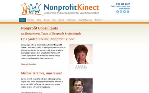 Screenshot of Team Page nonprofitkinect.org - Nonprofit Consultants - Nonprofit Kinect Consultants - Cynder Sinclair - captured Sept. 20, 2018