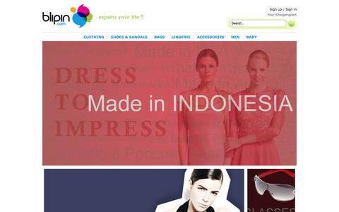 Screenshot of Home Page blipin.com - :: BLIPIN :: The Only Place to Shop - captured Sept. 30, 2014