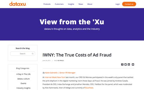 Screenshot of Pricing Page dataxu.com - IWNY: The True Costs of Ad Fraud - dataxu, inc. - captured Nov. 18, 2019