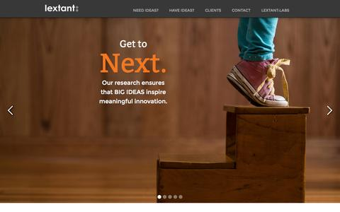 Screenshot of Home Page lextant.com - Lextant - when you need to know - captured Sept. 30, 2014
