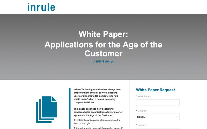 InRule White Paper - Applications for the Age of the Customer