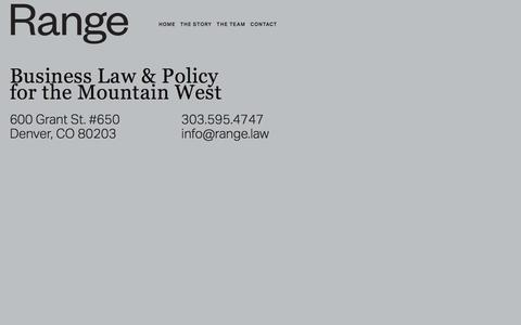 Screenshot of Home Page range.law - Range - captured July 4, 2018