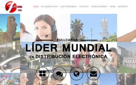 Screenshot of Home Page fullcarga.cl - Cargas virtuales teléfonos celulares. Servicios Transaccionales - captured Sept. 11, 2015