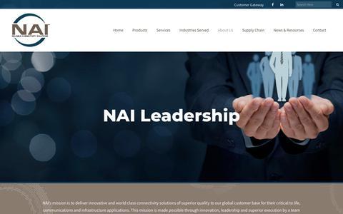 Screenshot of Team Page nai-group.com - Leadership - NAI Group - captured Oct. 18, 2018